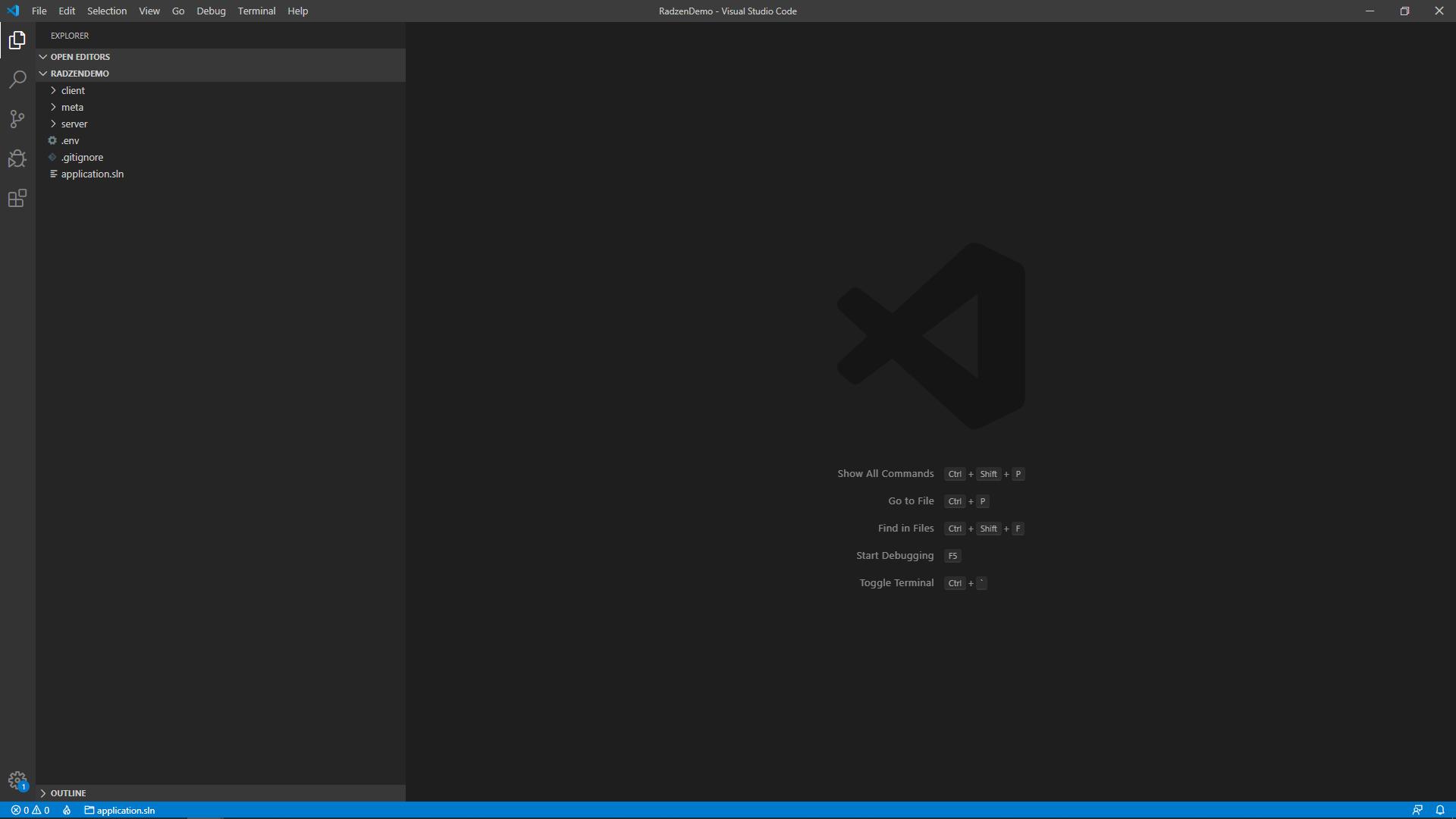Run with Visual Studio